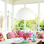 Colorful Outdoor Porches Retreat