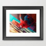 Colorful Illustrations of Superhero Framed Print
