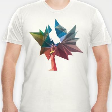 Colorful Illustrations of Superhero T-Shirts