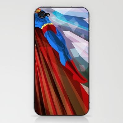 Colorful Illustrations of Superhero iPhone Skin