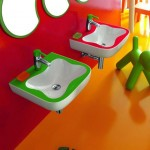 Colorful Kids Bathroom Decor by Laufen
