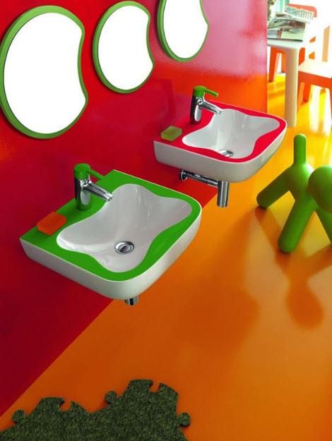 Colorful Kids Bathroom Decor by Laufen_1