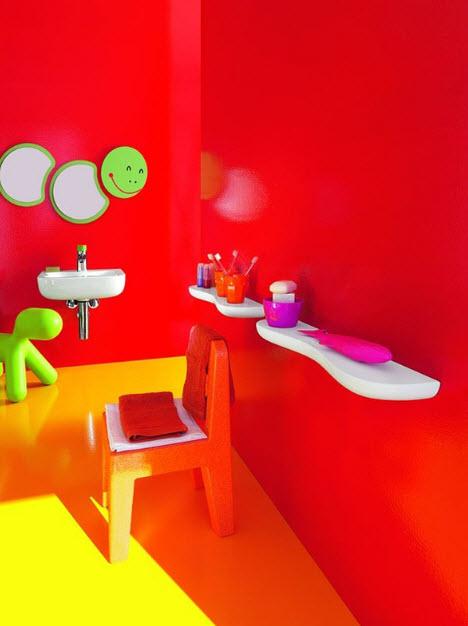 Colorful Kids Bathroom Decor by Laufen_2