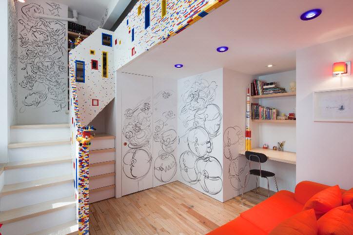 20,000 LEGO Brick New York City Apartment by I-Beam Design