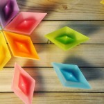 Colorful Candles in Shape of Folded Paper Boat_2