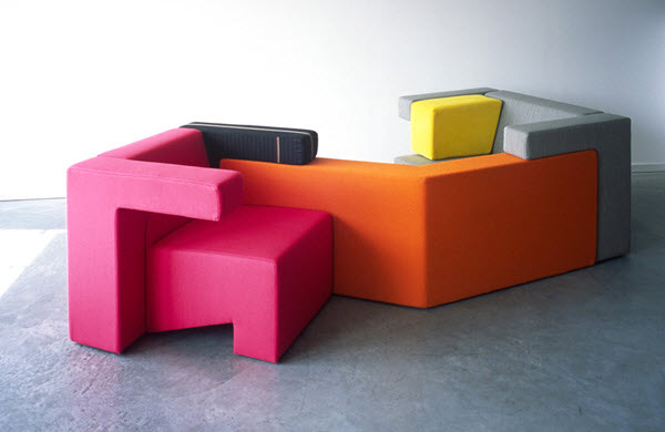 To Gather Colorful Sofa Collection by Studio Lawrence