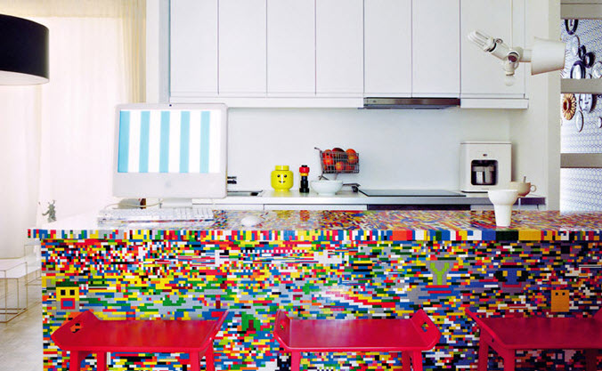 Colorful Lego Kitchen