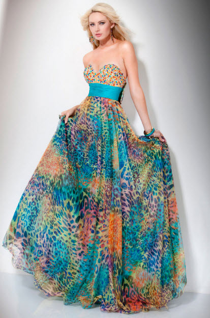 Multi Color Prom Dresses at In Seven Colors – Colorful Designs ...