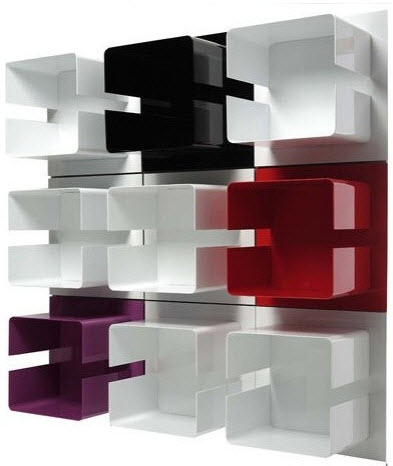 Wall Mounted Bookcase by Made in Design