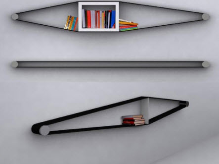 Wall Mounted Bookcase by arianna vivenzio