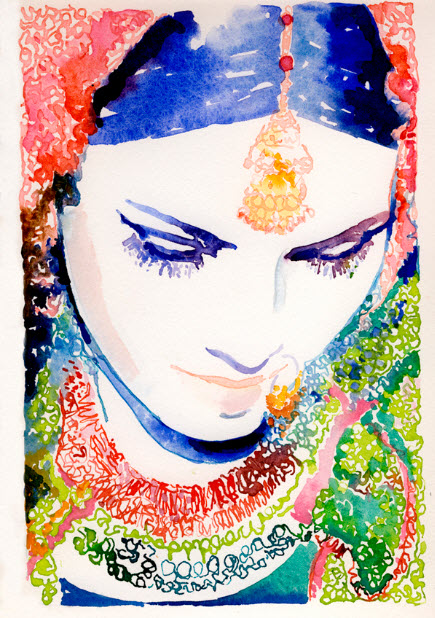 Watercolour Fashion Illustration Print by Cate Parr_3
