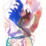 Watercolour Fashion Illustration Print by Cate Parr_4