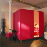 Mobile Bed Cube For A Studio Apartment