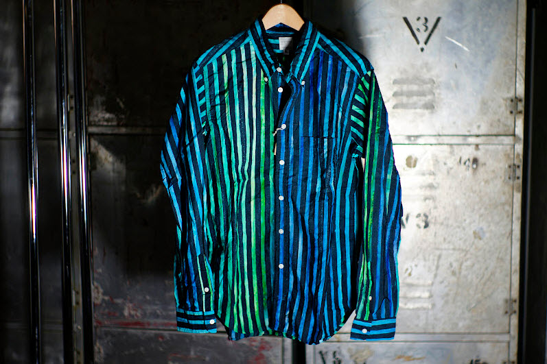Nepenthes Loop Back Shirts with Bold and Vivid Stripes_1