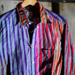 Nepenthes Loop Back Shirts with Bold and Vivid Stripes