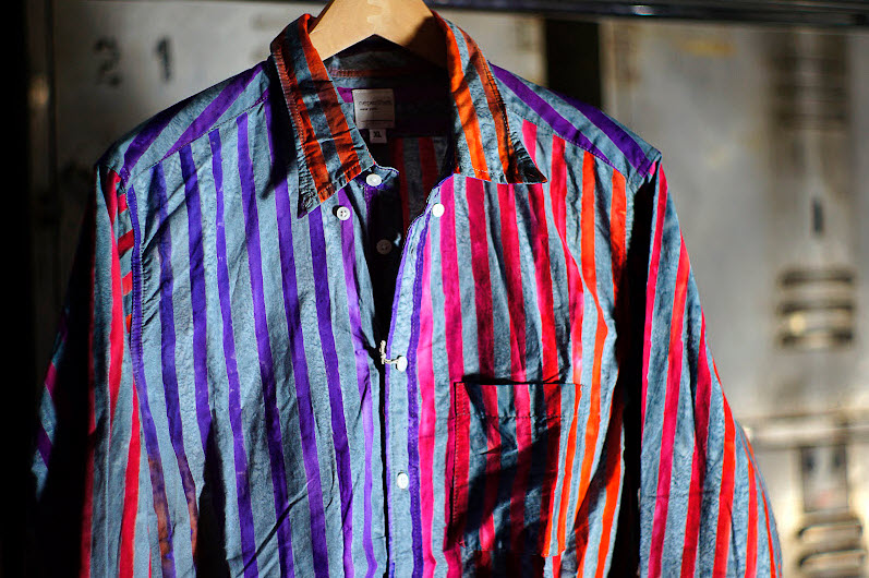 Nepenthes Loop Back Shirts with Bold and Vivid Stripes_4