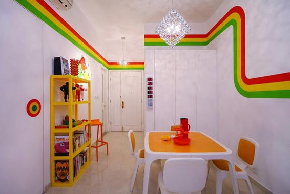 Colorful Furnitures for Small Apartment_9