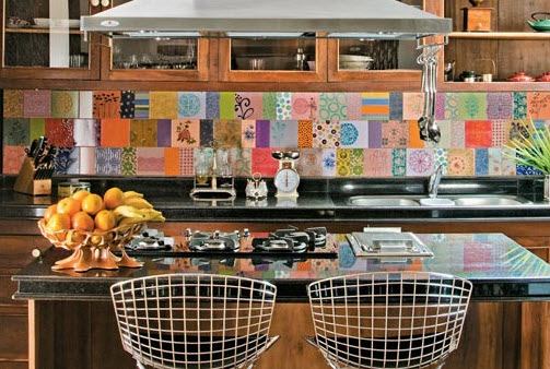 Colorful Kitchen Backsplash Pictures 19