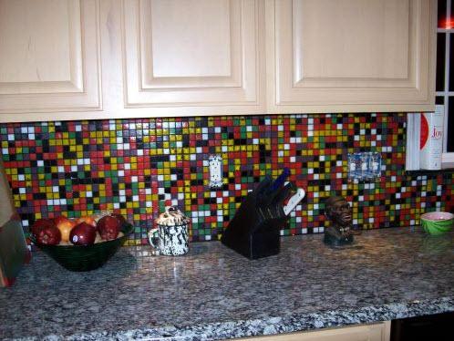 37 Colorful Kitchen Backsplash Pictures