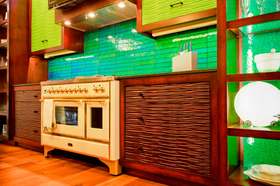 37 colorful kitchen backsplash pictures | in seven colors