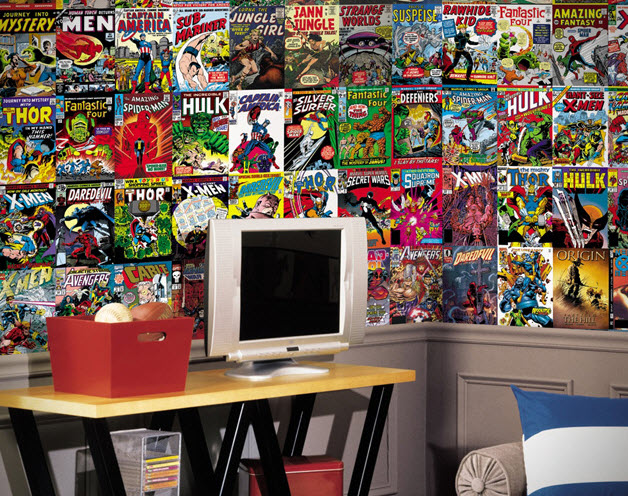 Comic Book Cover Wallpaper Mural