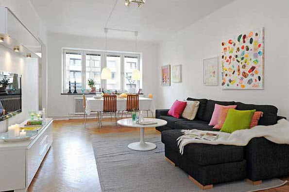 Apartment Decoration 20 colorful apartment decorating ideas_19 at in seven colors