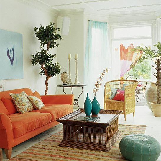 20 Vibrant Decorating Ideas for Living Rooms_1