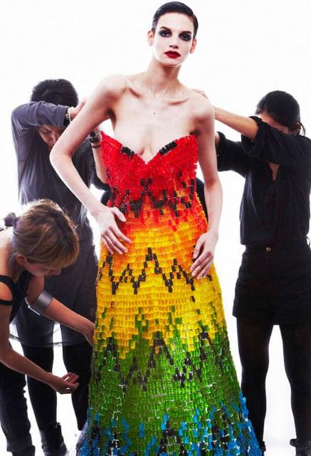 Best Alexander McQueen Multi-colored Dresses_1