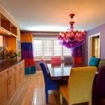 Colorful Chandelier Dining Room Light Fixtures by Horchow