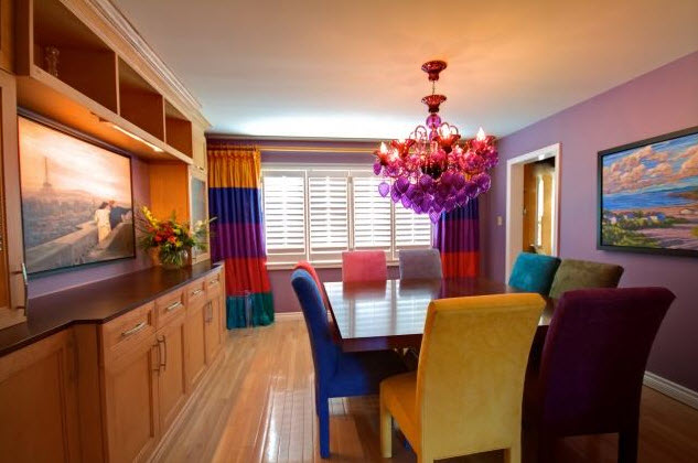 colorful dining room lighting ideas - dining room light fixtures