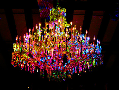 Colorful Chandelier Dining Room Light