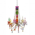 Colorful Chandelier Dining Room Light Fixtures_7