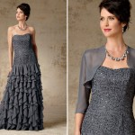 Light Mother of the Groom Dresses for Summer, Beaded Strapless Gown