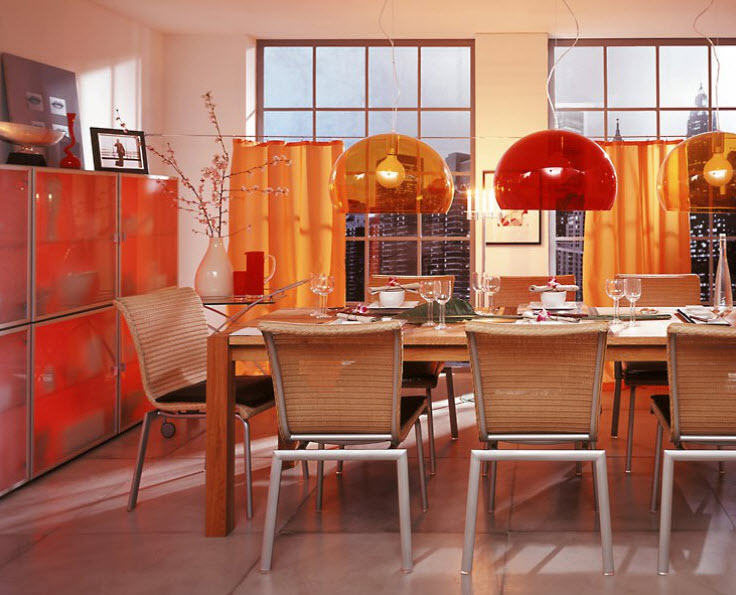 pendant lighting for dining room with fun colors_4 at in seven