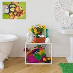 Bathroom Decorating Ideas with Beautiful Wall Arts_14