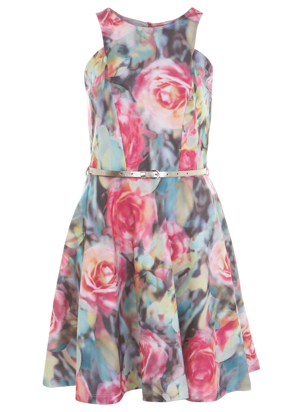 Floral Print Mini Prom Dresses by Miss Selfridge
