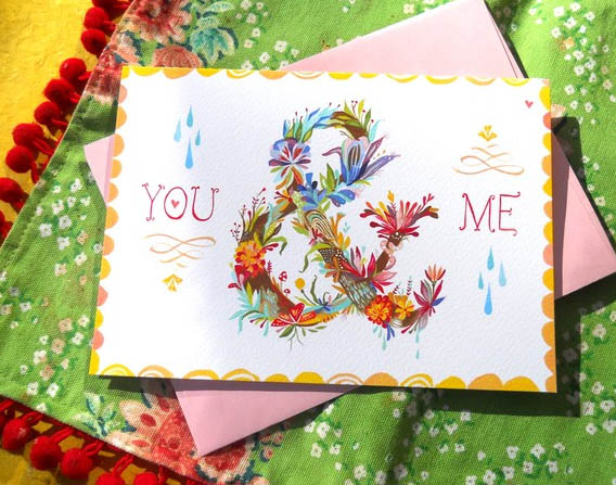 Colorful Greeting Card of Original Watercolor Painting_5