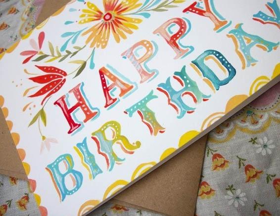 Colorful greeting card of original watercolor painting in seven colorful greeting card of original watercolor painting6 m4hsunfo
