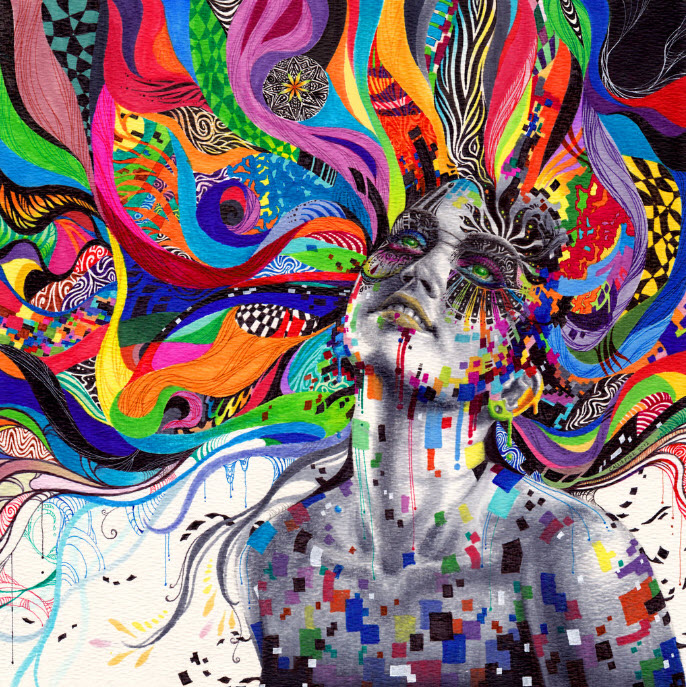 colorful mixed media drawings by callie fink at in seven colors
