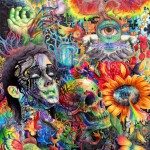 Colorful Mixed Media Drawings by Callie Fink_1