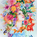 Colorful Mixed Media Drawings by Callie Fink_3