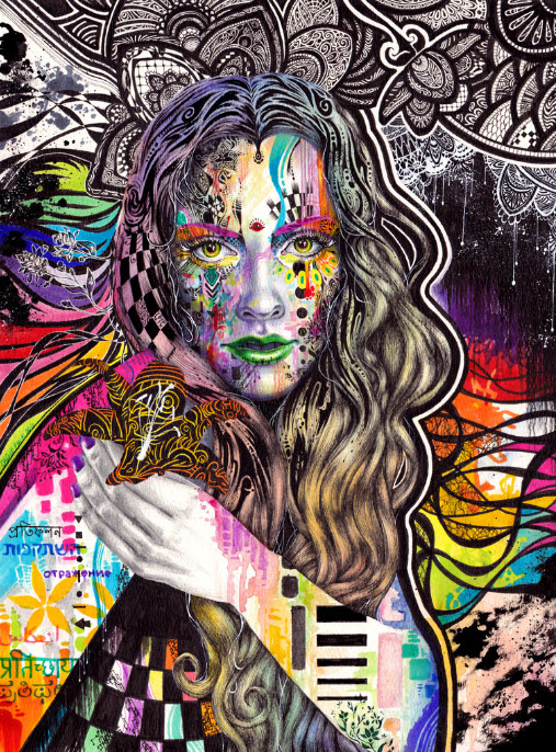 Colorful Mixed Media Drawings by Callie Fink_4