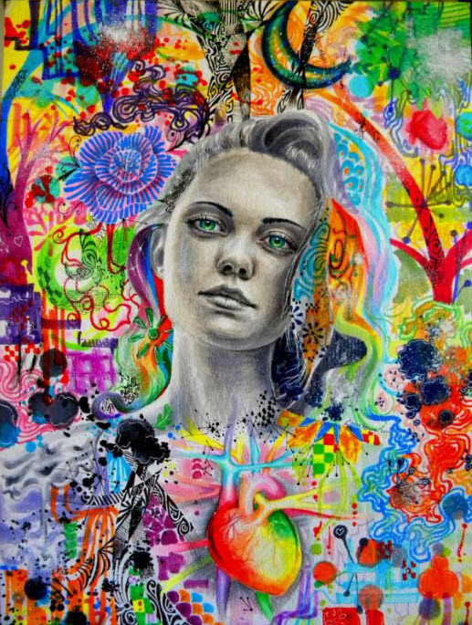 Colorful Mixed Media Drawings by Callie Fink_6