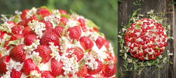 Simple yet Perfect Wedding Cake, A Strawberry Wedding Cake by projectwedding, Chelsea Fuss
