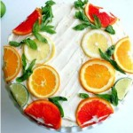 Simple yet Perfect Wedding Cake, Citrus Cake with Lemon Curd Filling and Orange Lemon Icing by apollinas