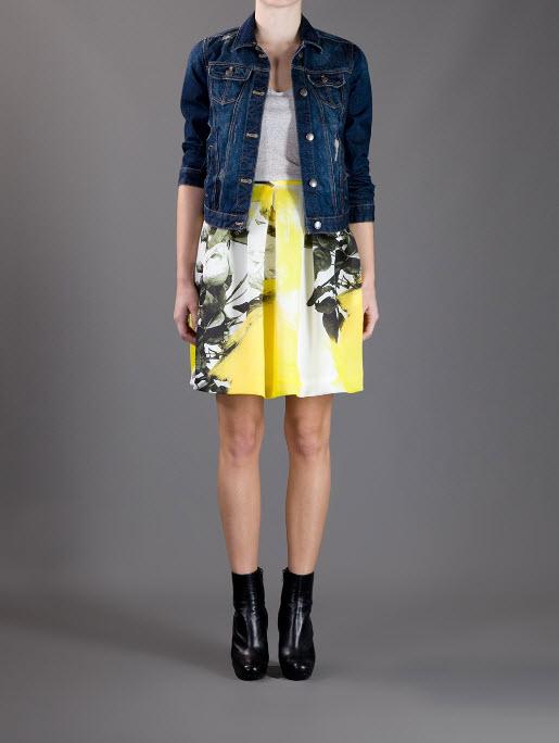 CHRISTOPHER KANE printed Pleated Skirt