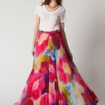 Colorful Pleated Skirt and How to Wear it