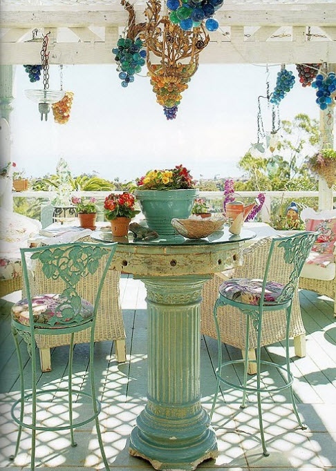 Colorful Vintage Table