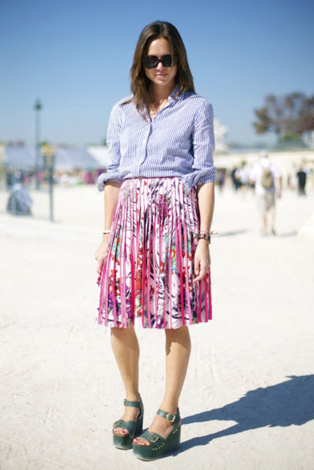 How to Wear Pleated Skirt_11