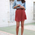 How to Wear Pleated Skirt_13